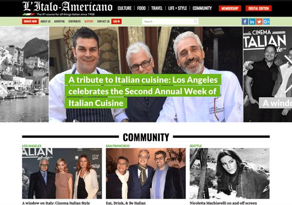 Truly Social for L'Italo Americano Magazine